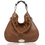 Mulberry Mitzy Hobo Pebbled Leather Bags Brown