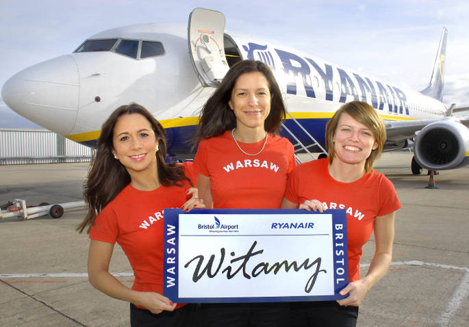 Ryanair launches Bristol-Warsaw flights with £9.99 fares