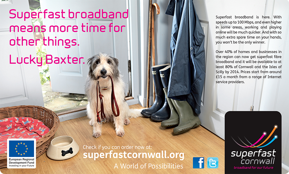 Cornish broadband campaign rolled out by Bath's The Agency