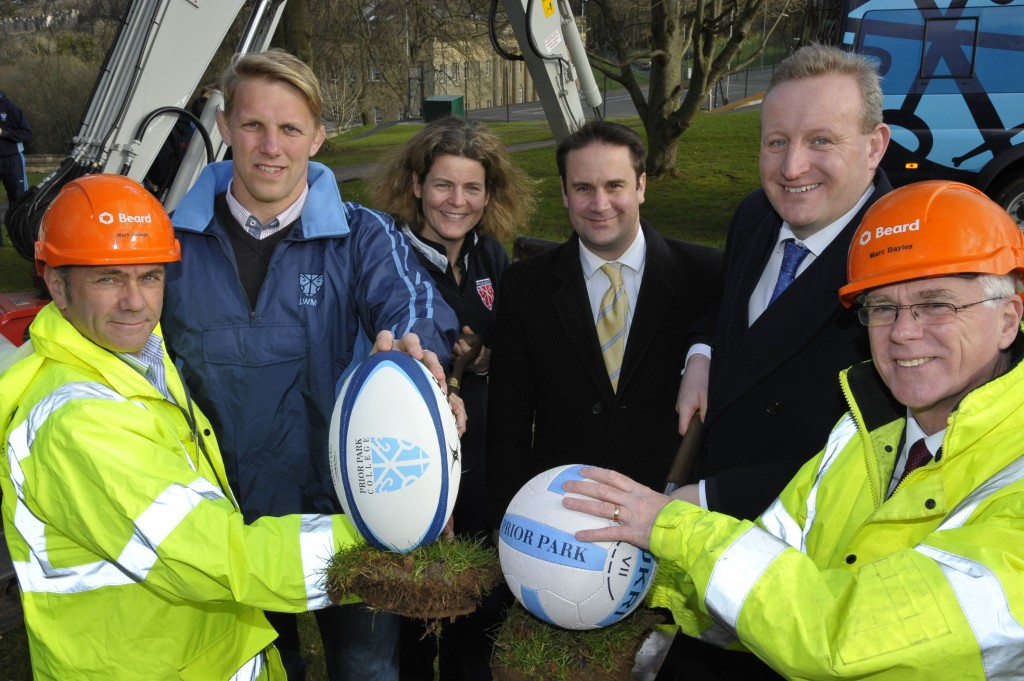 Mad Dog Moody on hand to kick start work on new Prior Park sports centre