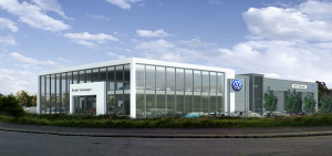 Green light for showpiece VW dealership designed by Bath architects Stubbs Rich