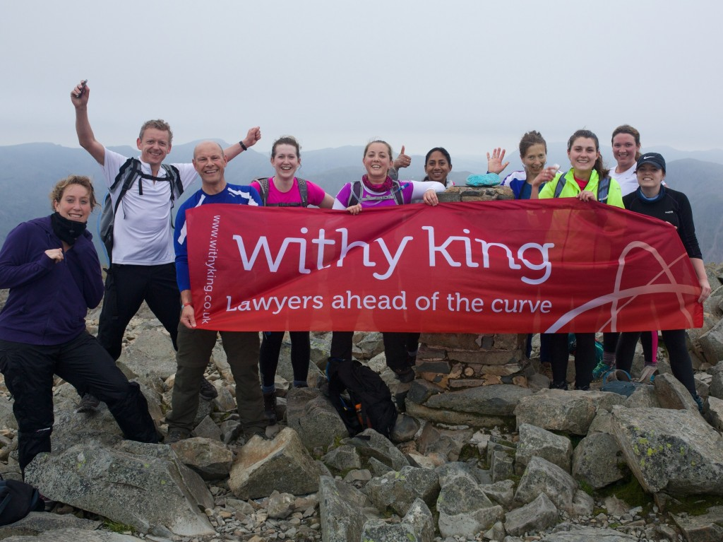 Peak performance from Withy King's Bath lawyers takes firm's fundraising to new heights