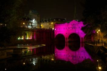 Purple reigns in Bath as city marks fourth year of recognition for its safe night-time economy
