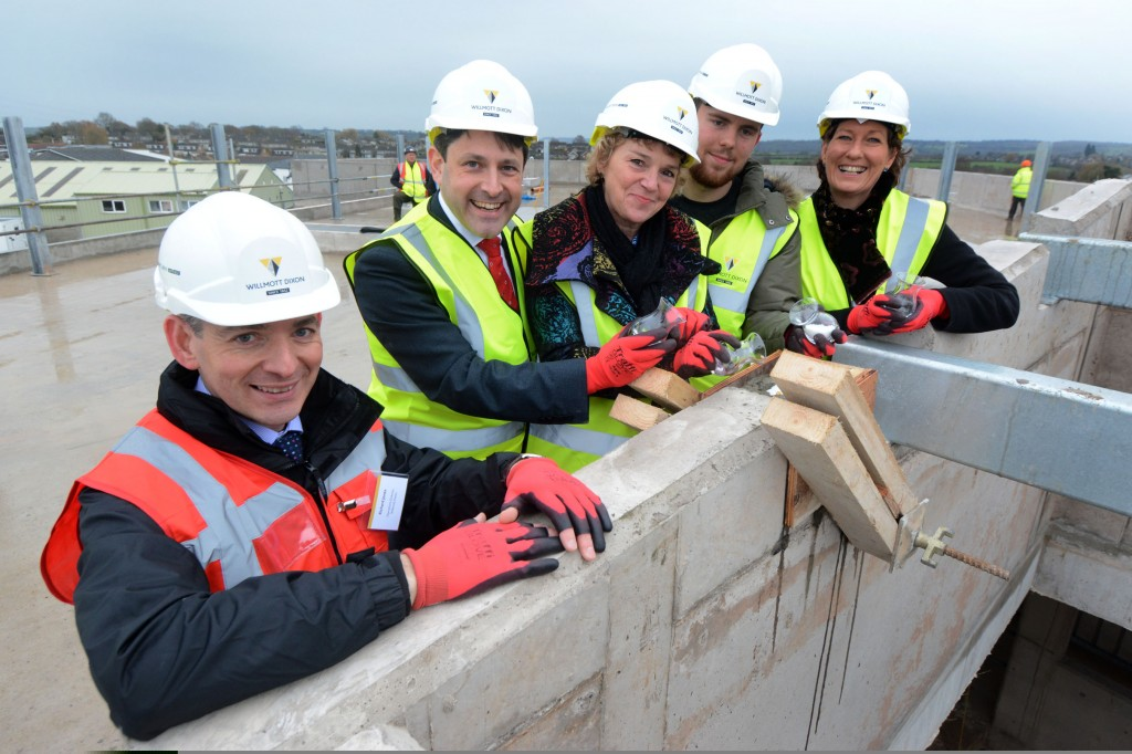 College topping-out ceremony sends message that Chippenham is building for the future