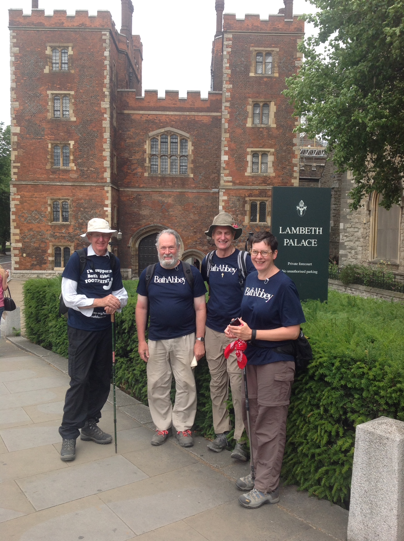 Bath Abbey's innovative £19.3m Footprint project benefits from sponsored walkers' feat