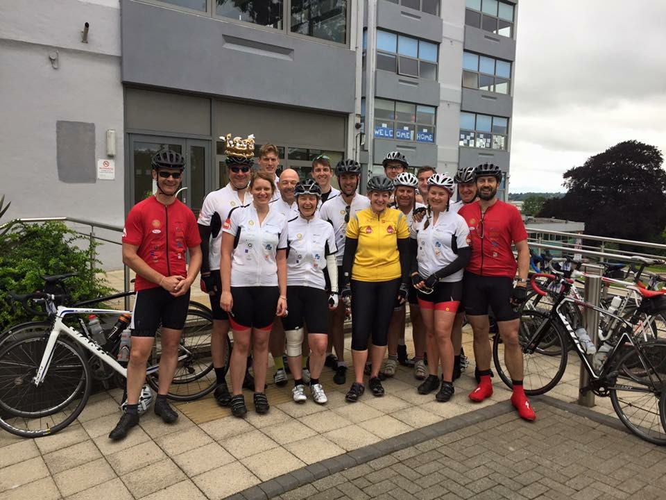 Old Mill team's 300-mile cycle challenge bags £8,000 for global education charity