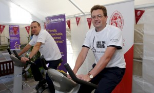Bath businesses get on their (static) bike for charity