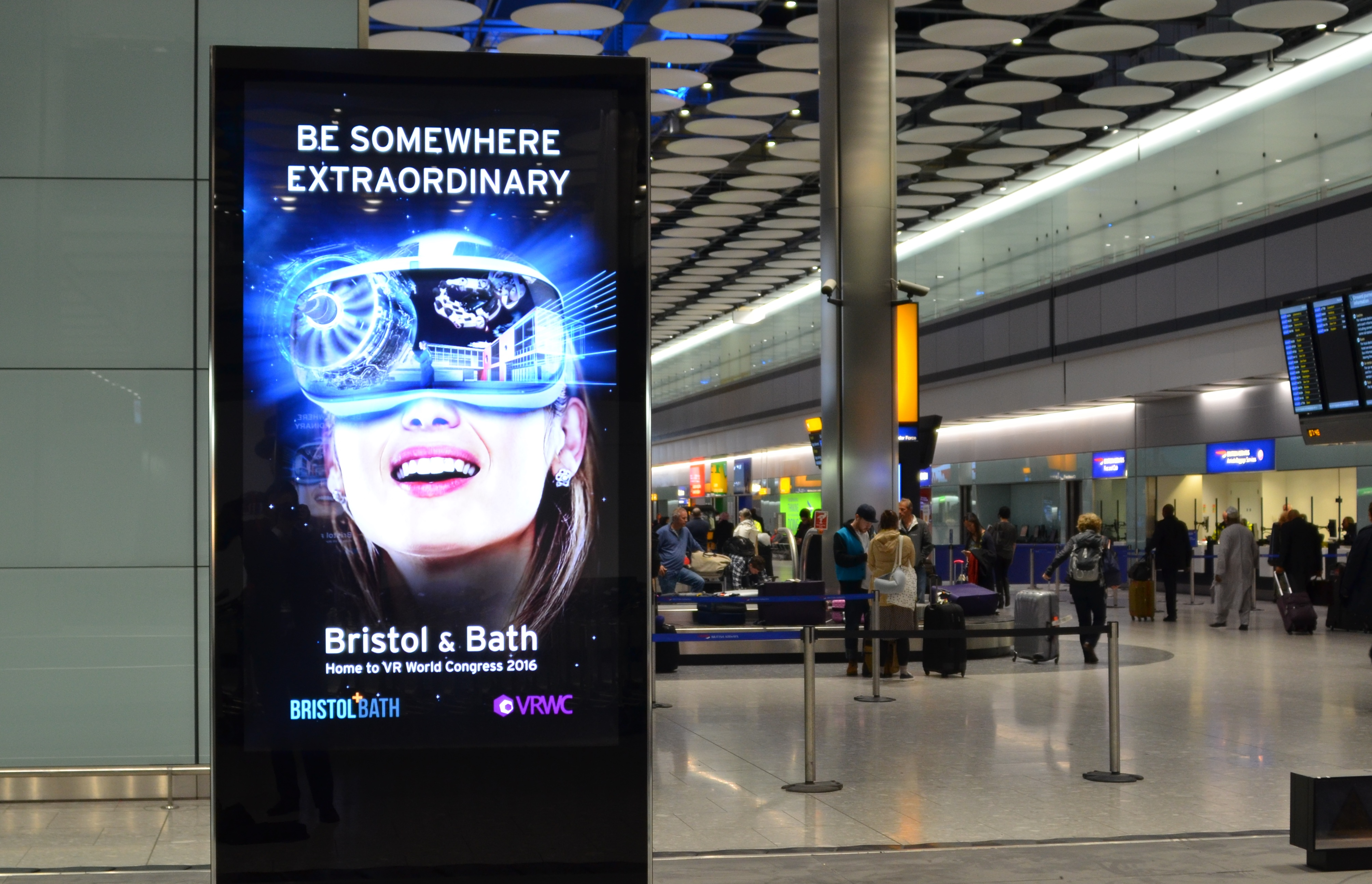 Bath And Bristol Land Heathrow Advertising Slots To Put Region S Virtual Reality Prowess In The