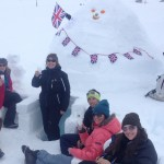 Pic 7 - Toasting our success! The igloo is completed in time