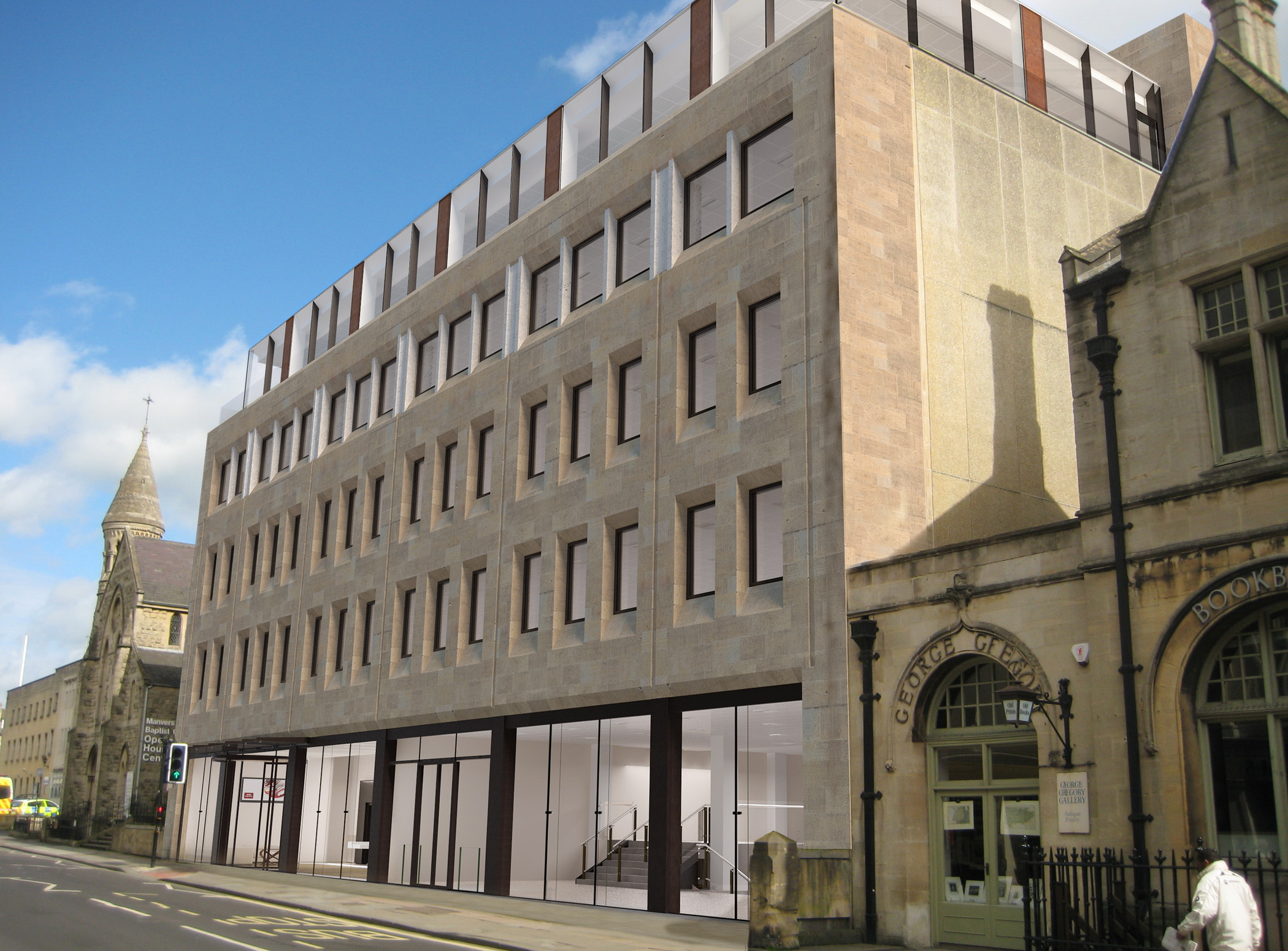 'Best new office in Bath' tag for Manvers St speculative scheme as work gets underway