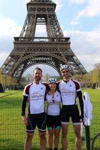 Towering achievement of Withy King cyclists with 230-mile charity bike ride to Paris