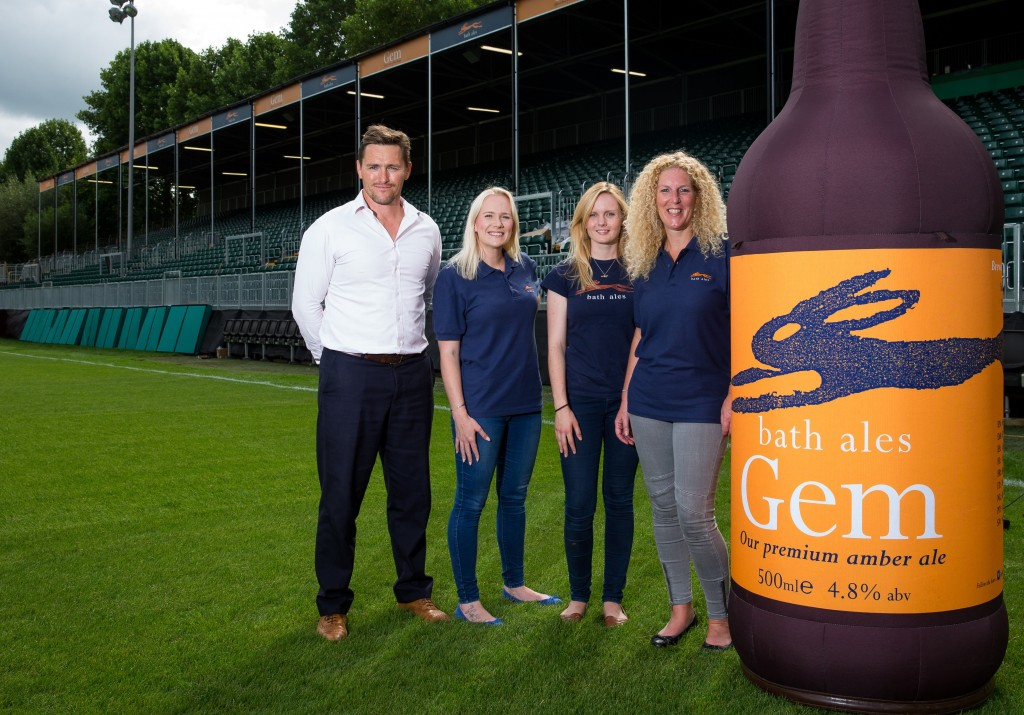 Bath Ales teams up with Bath Rugby for further two years and toasts newly named Gem Stand