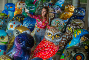 Charity auction will be last chance to swoop for one of Bath's unique Minerva's Owls sculptures