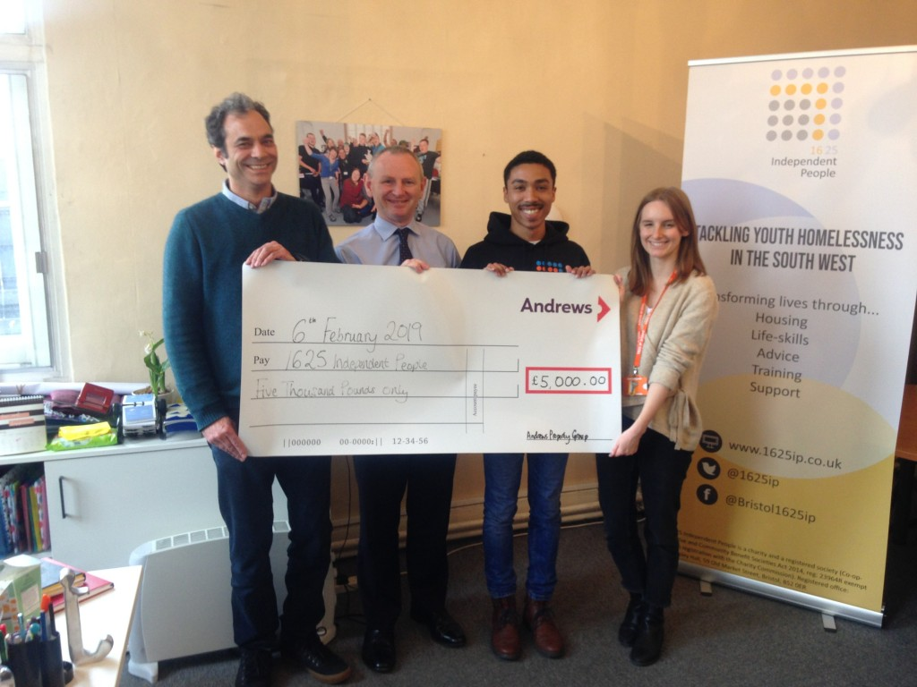 Andrews' Christmas appeal builds up funds for youth homelessness charity