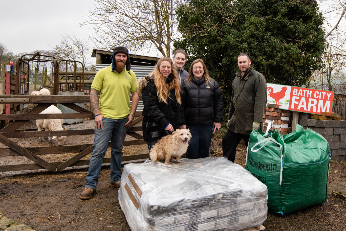 HPH donates building materials for new animal pens at Bath City Farm