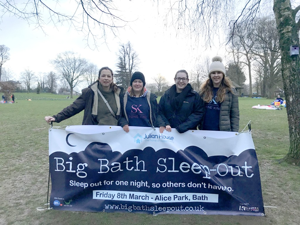 Night of rough sleeping by Stone King team brings in much-needed funds for homeless charity
