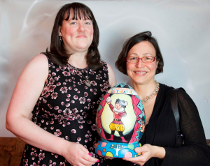 Artist and schoolchildren help accountants go the egg-stra mile for Bath theatre appeal