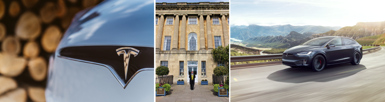 Tesla and Royal Crescent Hotel in drive to attract electric vehicle owners with free charging service