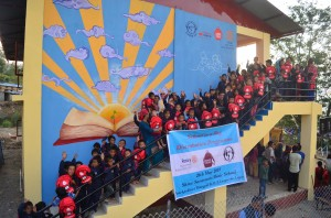 Nepalese school opened with charity funds raised by Old Mill staff in memory of colleague