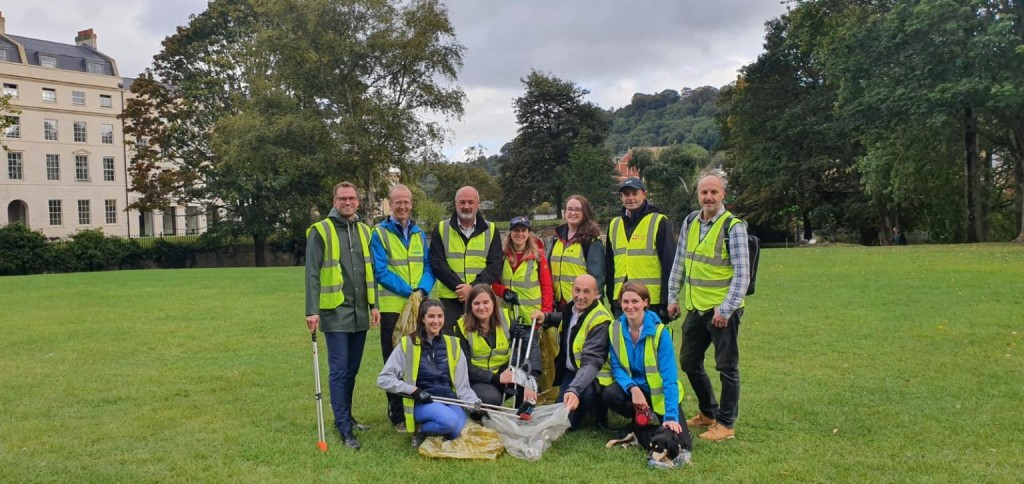 Bags of enthusiasm from Bath firms for Stone King's litter pick
