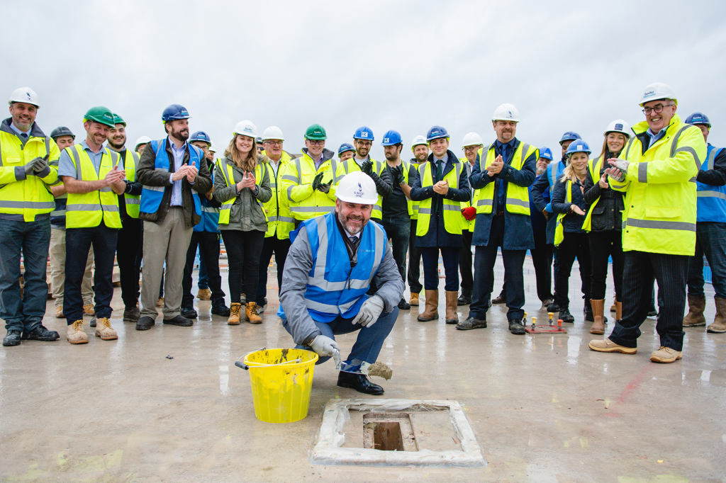 Topping-out ceremony marks high point for latest Bath student housing scheme