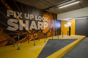 Former unloved office basement rides to the top as UK's best staff cycling facility