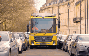 Pioneering all-electric refuse truck puts Bath on road to clean and green commercial waste collection