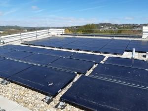 Showpiece office building powers ahead with city's largest solar panel scheme
